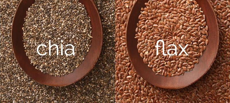 chia and flax seed
